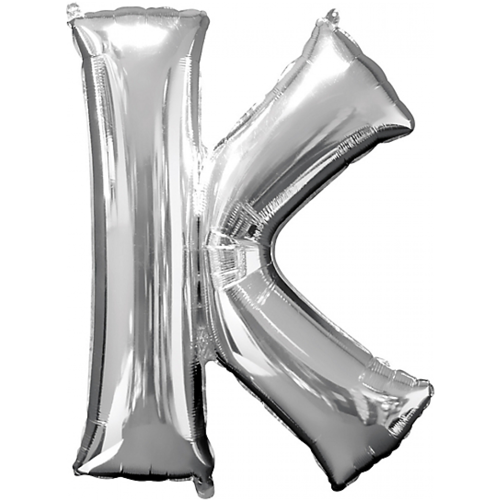 Silver balloon letters png