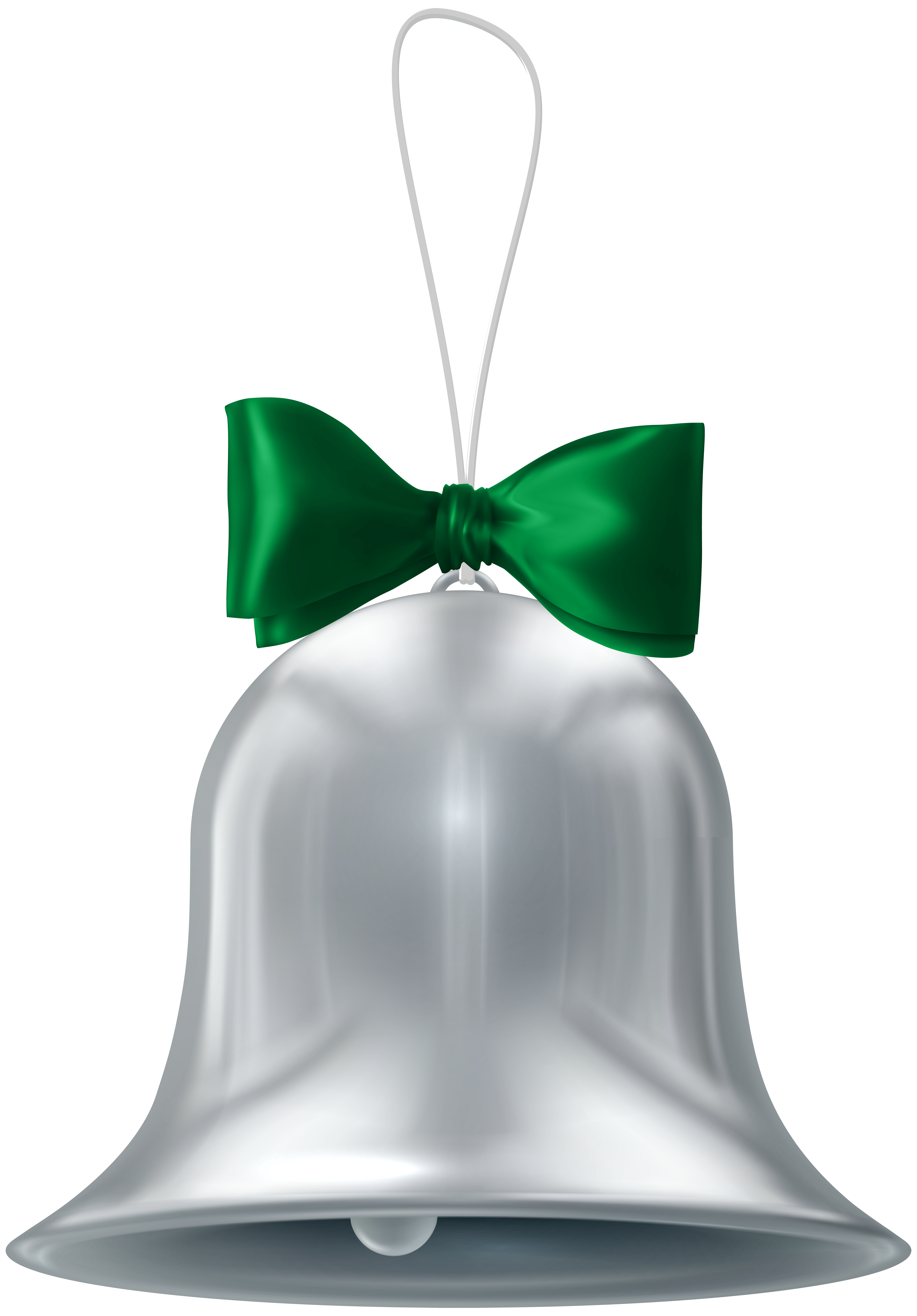 Gray bell png. Christmas silver transparent clip