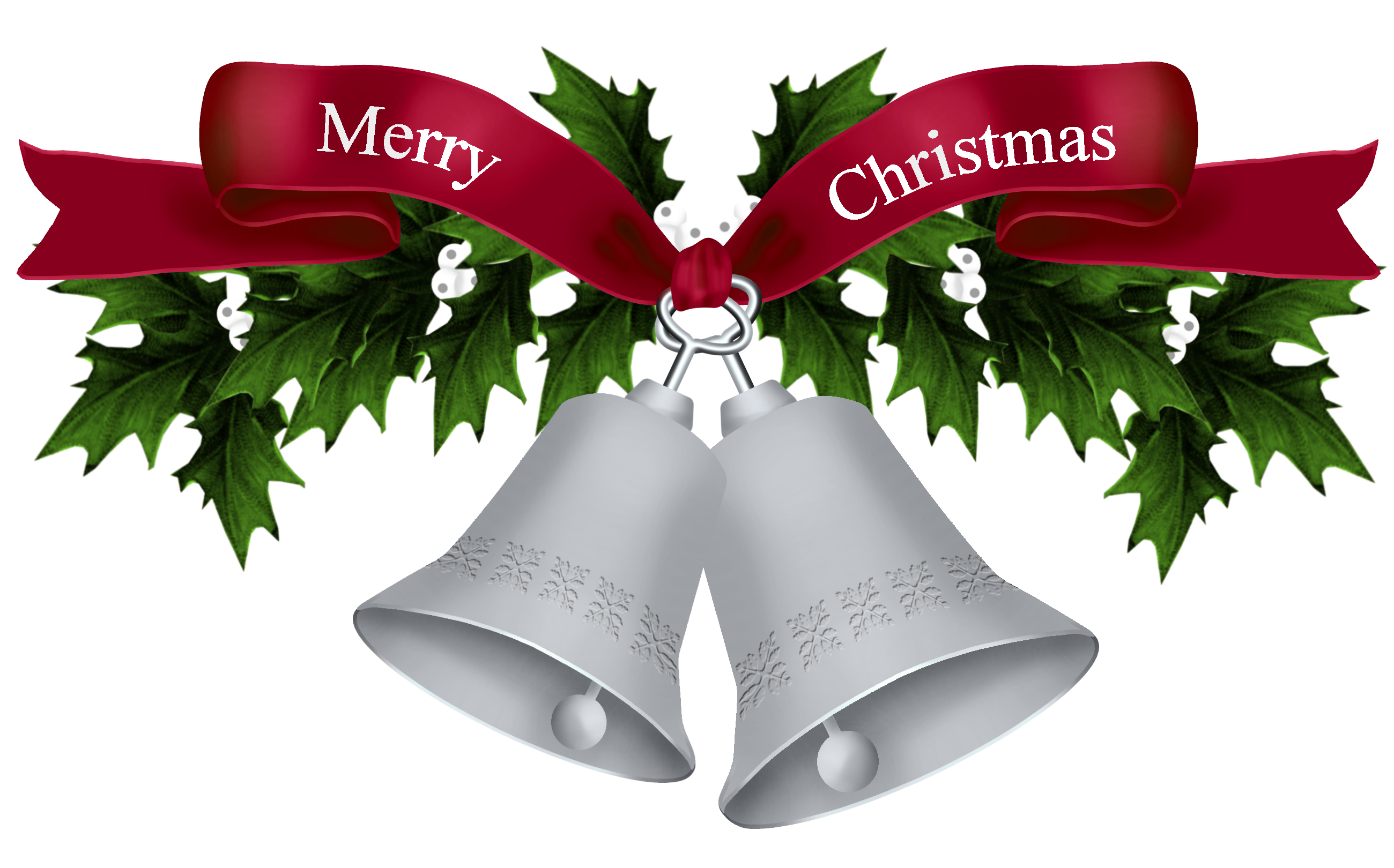 merry christmas png silver transparent