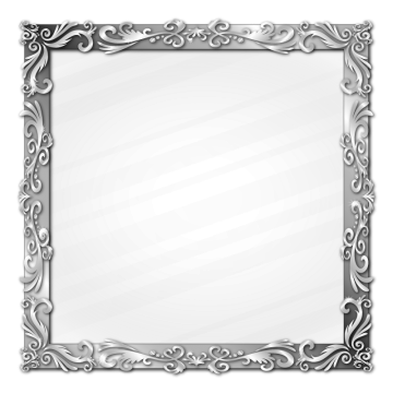Silver border png. Frame vectors psd and