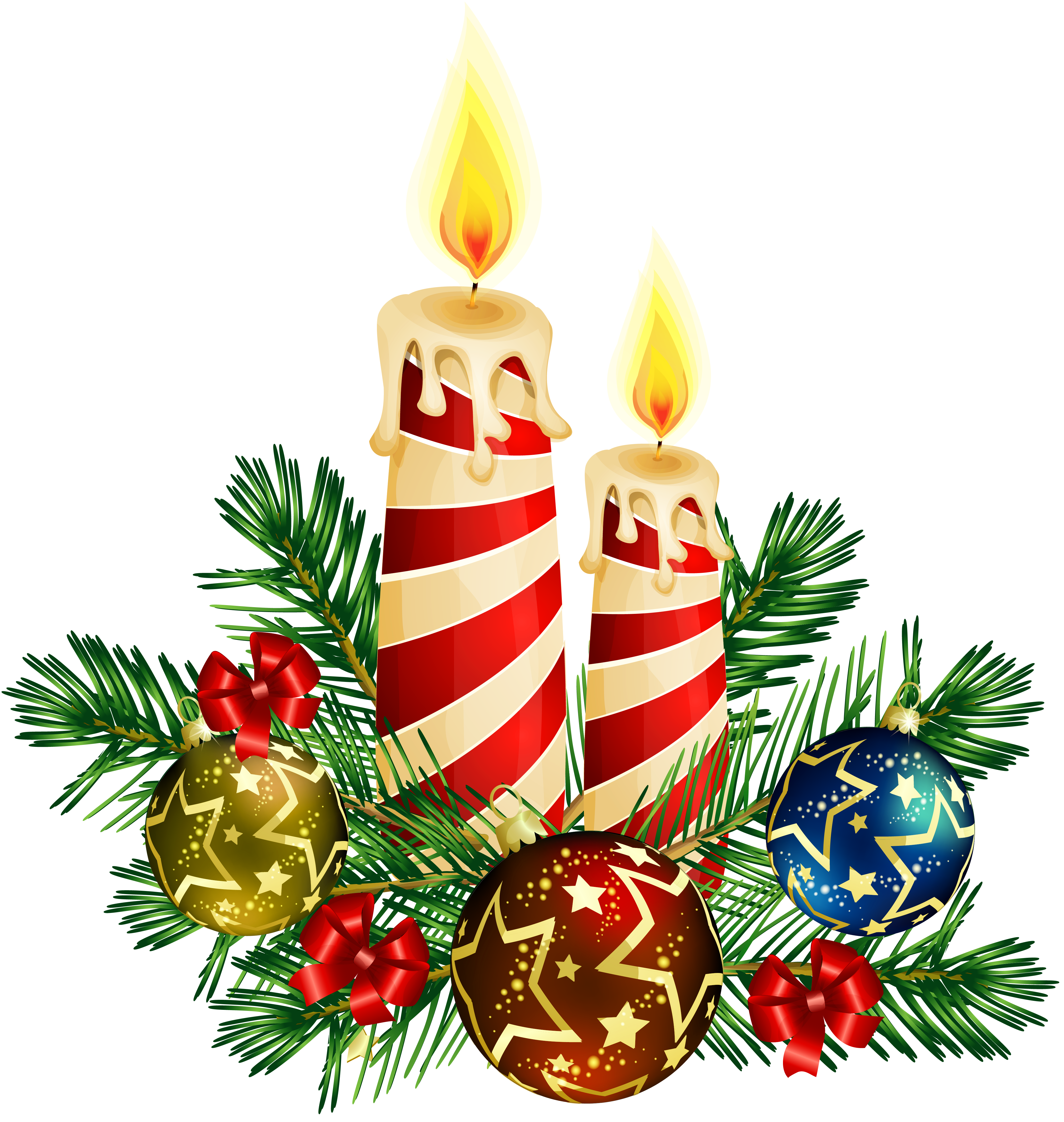 Silver christmas candles png. Transparent art gallery yopriceville