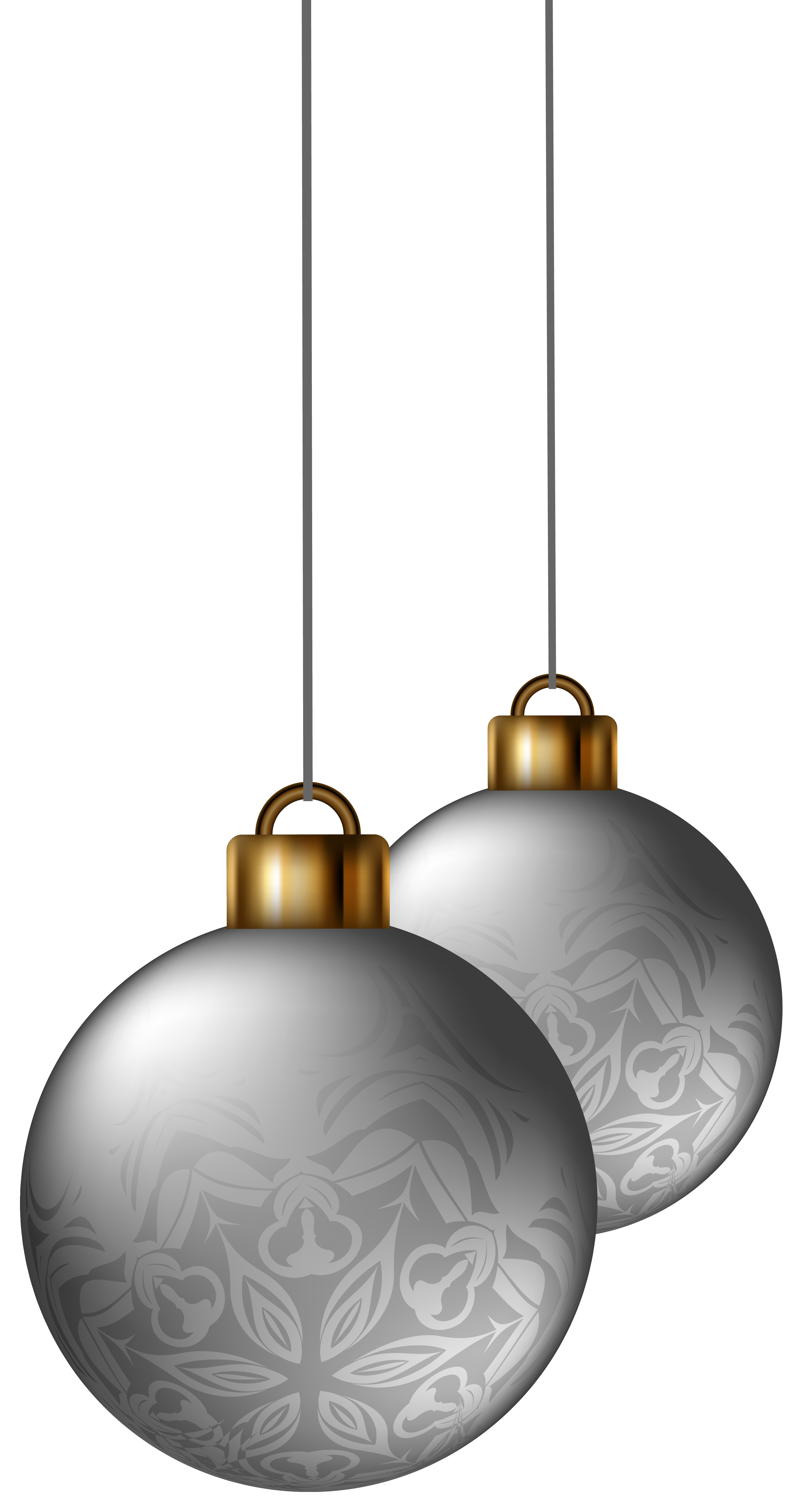 Silver christmas ornaments png. Balls clipart image gallery
