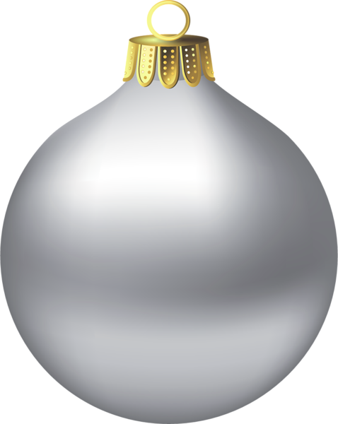 Silver christmas ornaments png. Transparent ornament clipart d