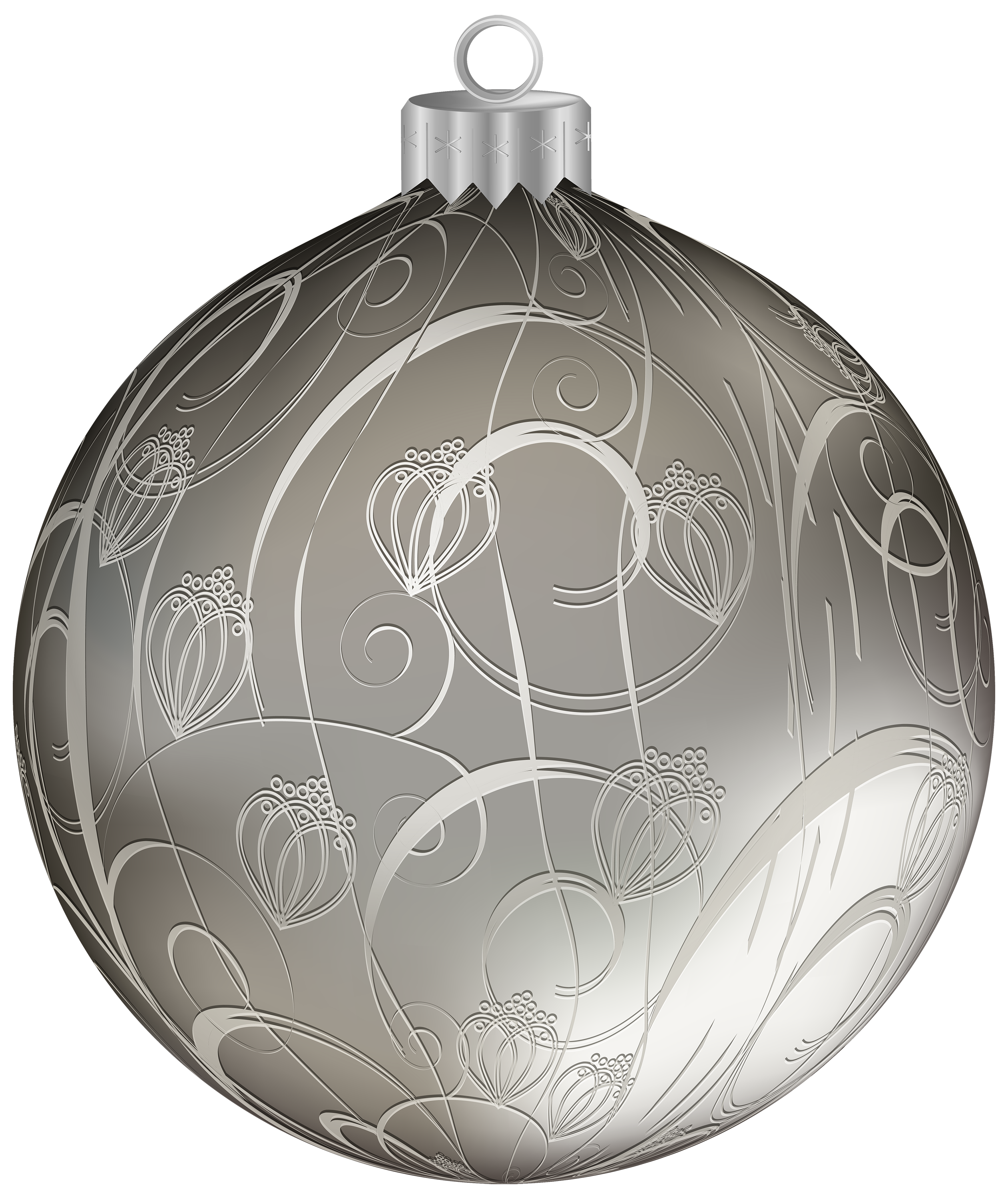 Silver christmas ornaments png. Ball with clipart image