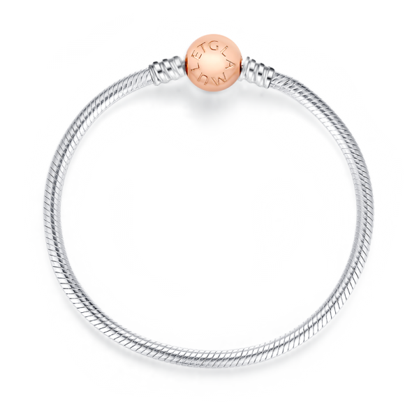 Silver clip classic. Rose gold round sterling