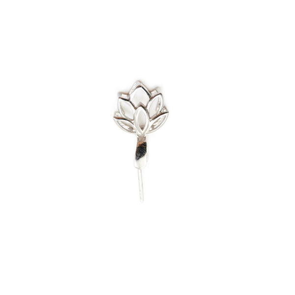Silver clip pinch. Wholesale supplies sterling leaf