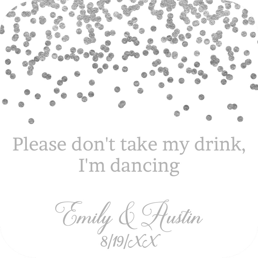 Silver confetti png. Drink coaster by bottleyourbrand