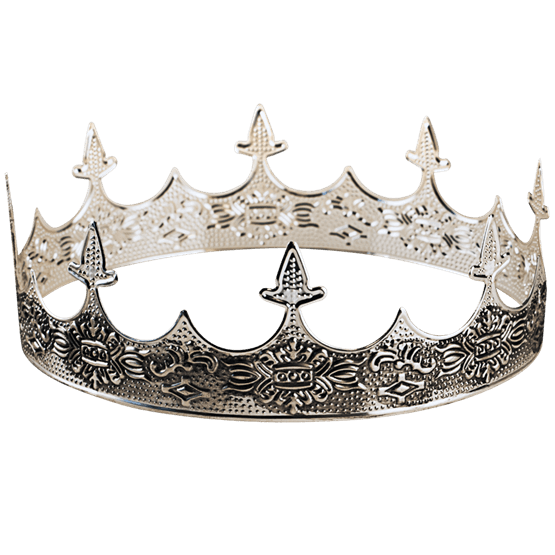 Silver crown png. Medieval st s from