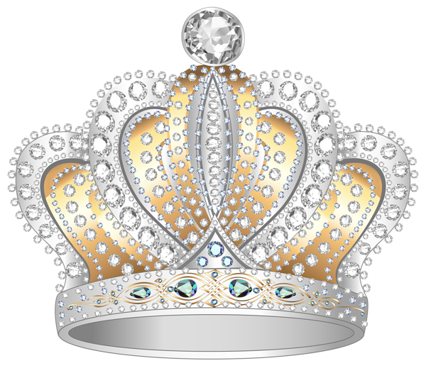 Silver crown png. Gold diamond clipart image