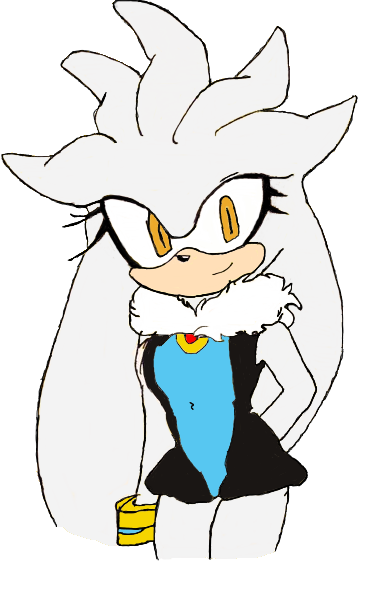 Silver drawing female. Silvia the hedgehog by