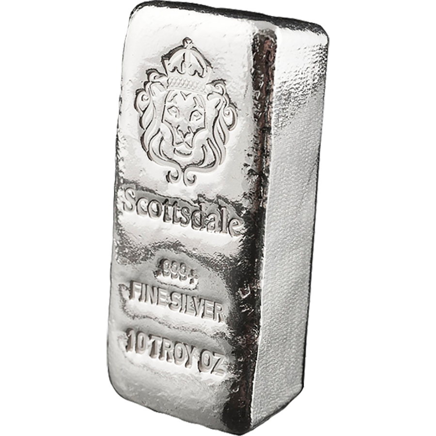 Silver drawing metal bar. Scottsdale mint oz cast