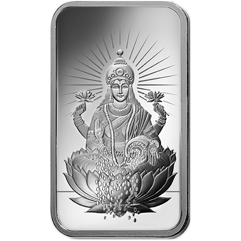 Silver drawing metal bar. Lakshmi ounce