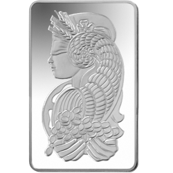 Silver drawing metal bar. Lady fortuna ounce