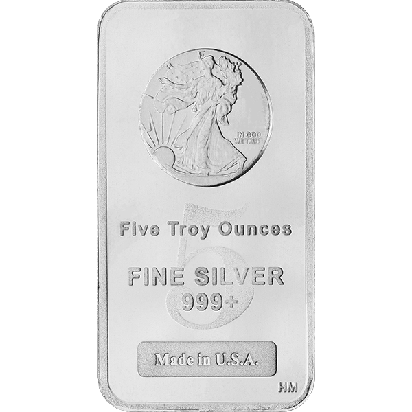 Silver drawing metal bar. Oz walking liberty