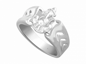 Silver drawing ring. Rings divine ganesha oriana