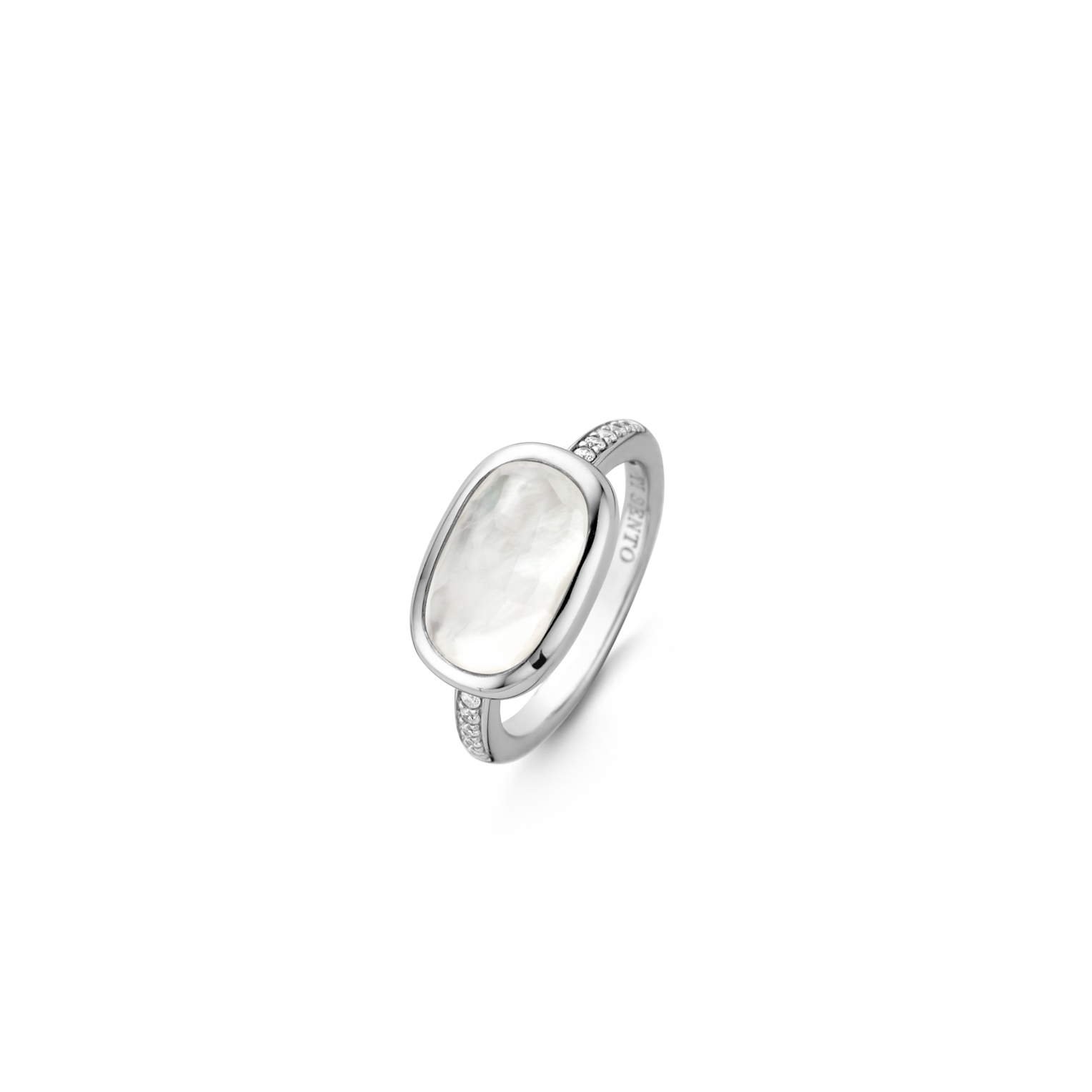 Silver drawing ring. Ti sento milano mw
