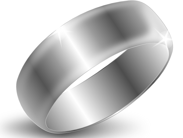 Silver drawing ring. Clip art at clker
