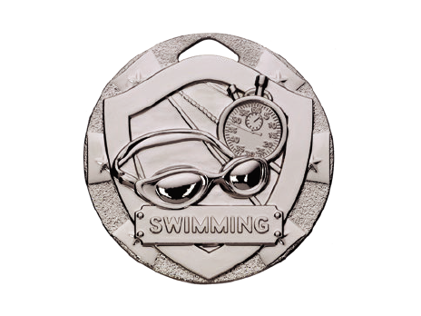 Silver drawing shiny metal. R s swimming economy