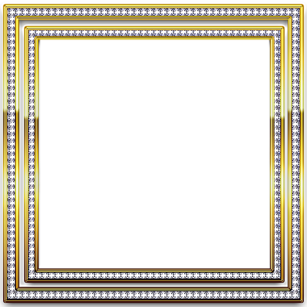 Silver frame png. Diamond picture frames gold