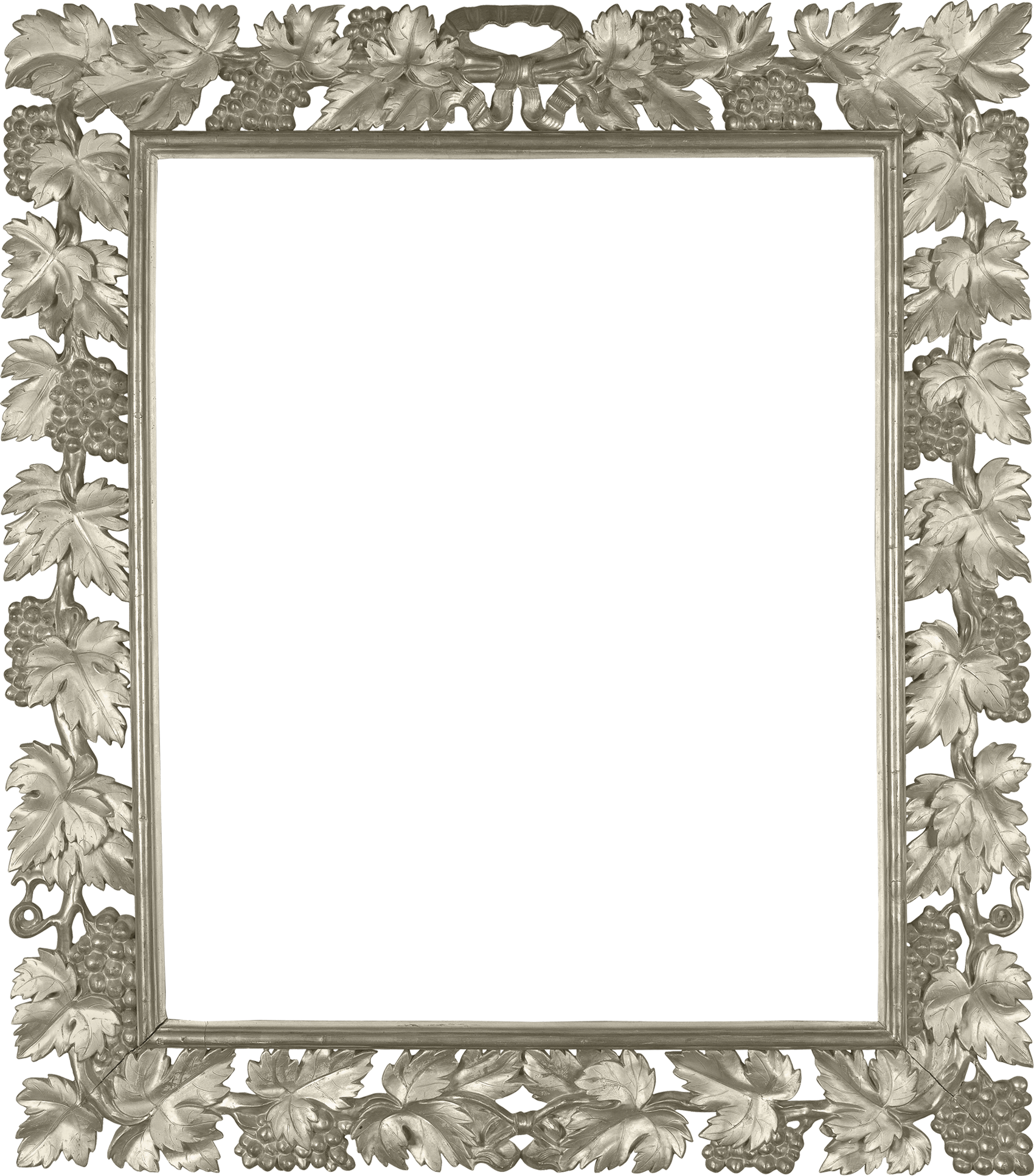 Silver picture frames png