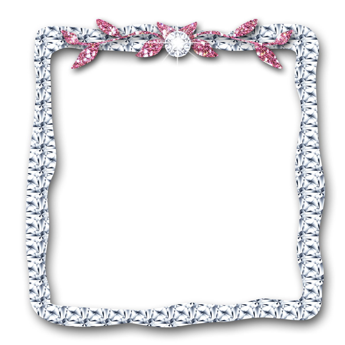 Diamond frame png. Glitter all things positively