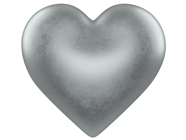 Silver heart png. Clipart