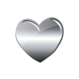 Silver heart png. Image