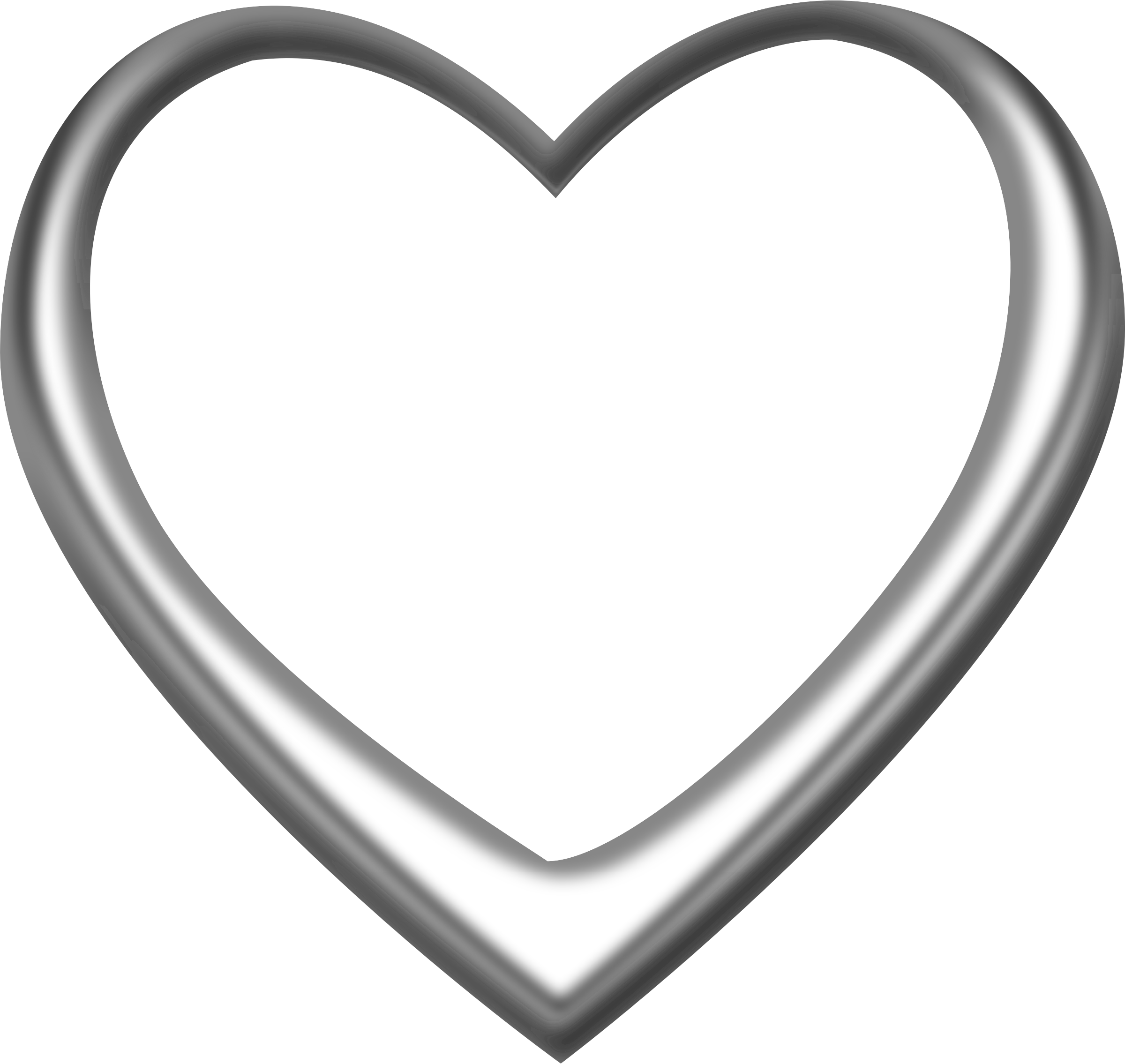 Silver heart png. Clipart big image