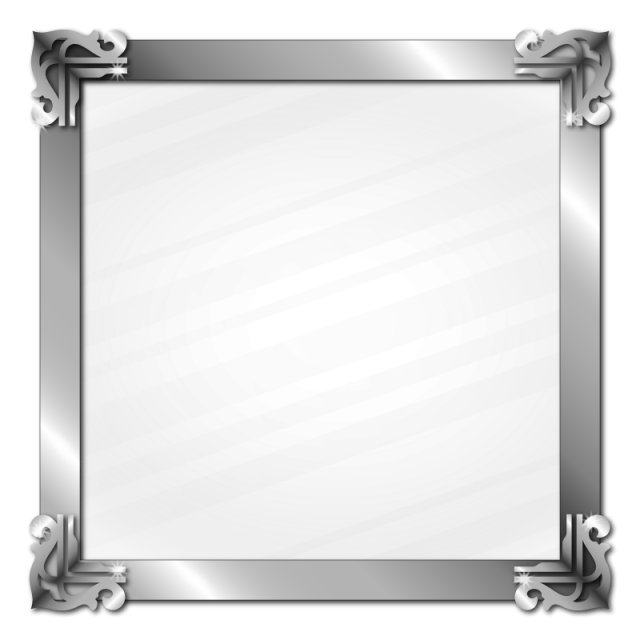 Silver picture frame png. Metal border glass effect