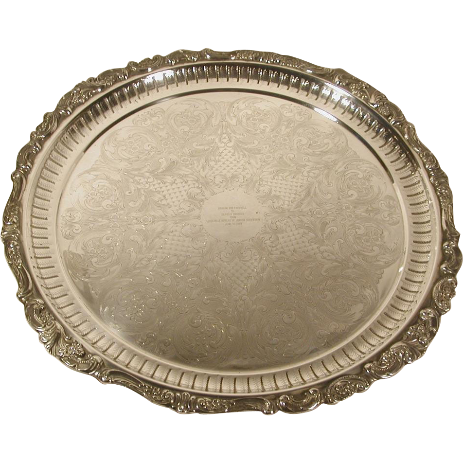Silver plate png. Wallace baroque serving tray