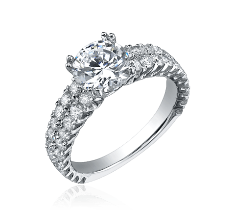 Silver ring png. With diamond jewelry transparent