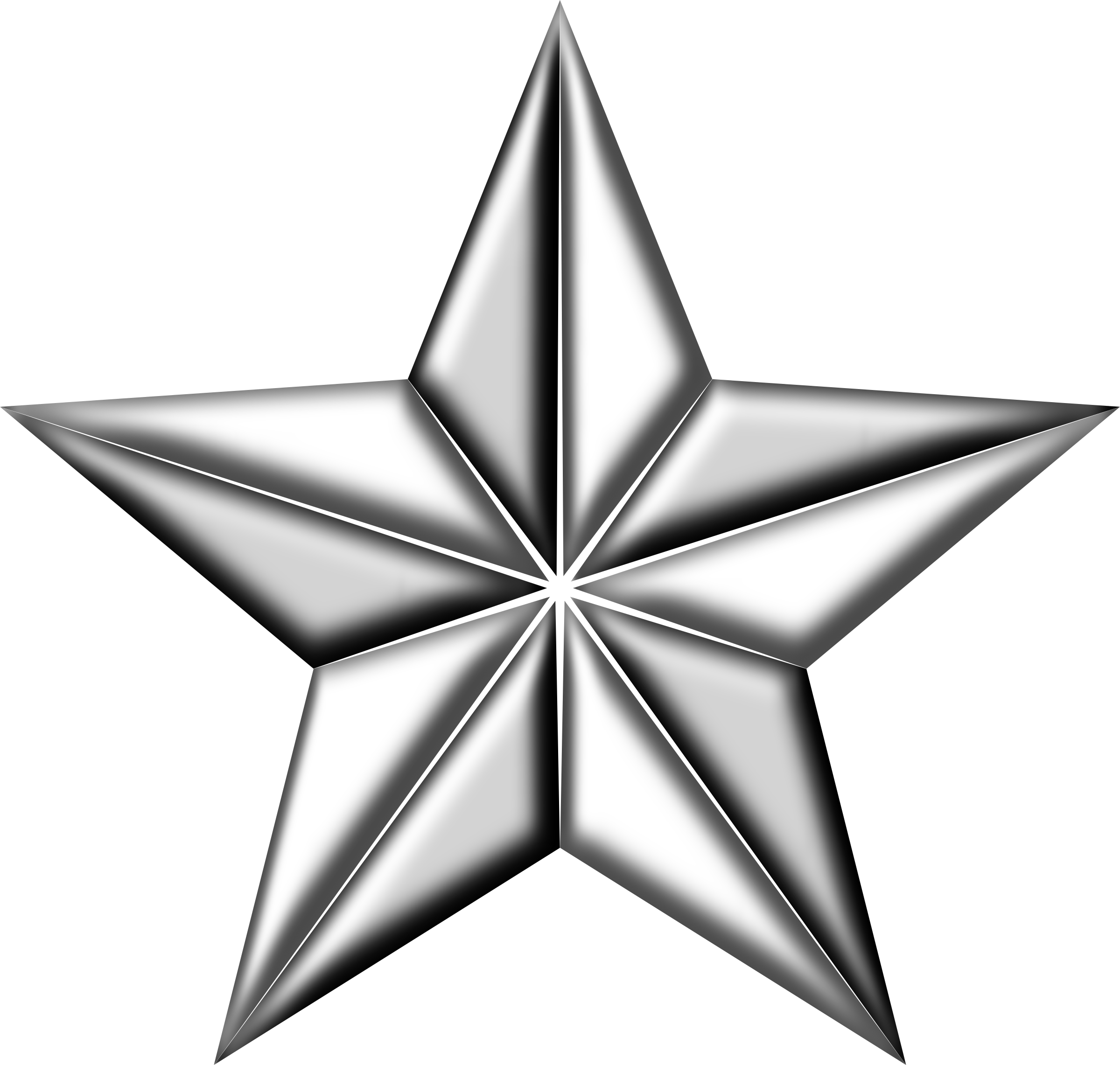 Silver star png. D segmented icons