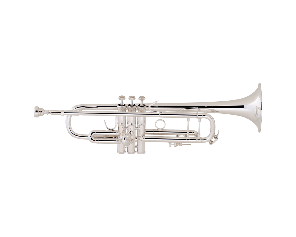Silver trumpet bell png. Bach strad s plate