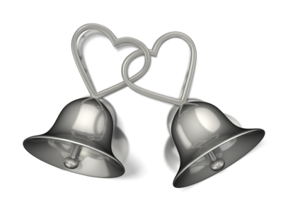 Silver wedding bell png. Civil union law impacts