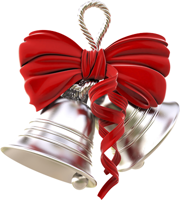 Silver wedding bell png. Ring in the season
