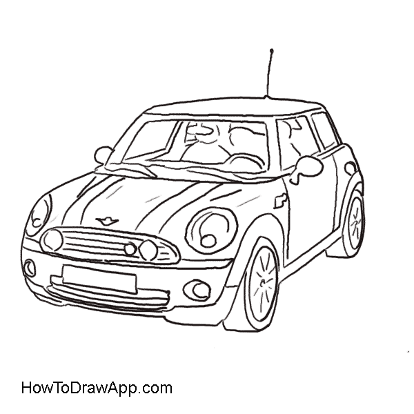 Mercedes drawing template. Smart car at getdrawings
