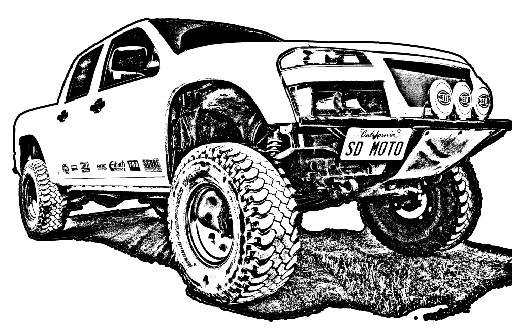 Silverado drawing outline. Lifted truck save our