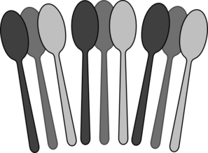 Utensils vector black and white. Spoons clip art at