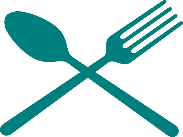 Silverware clipart crossed. Fork and spoon cross