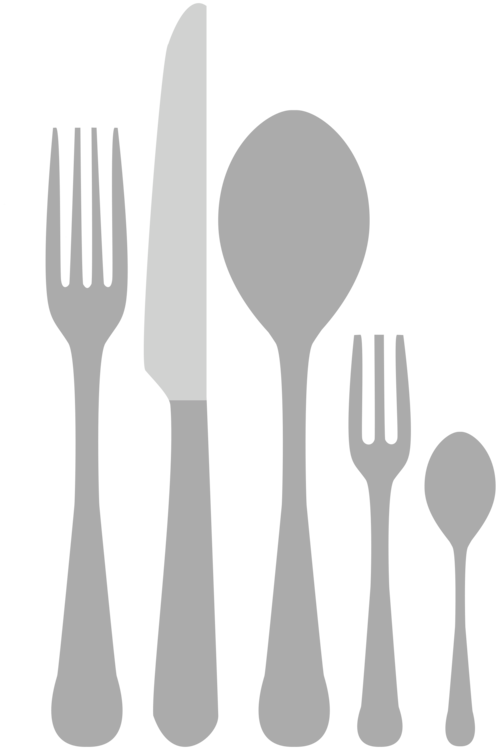 Vector spoon silverware. Fork knife cutlery kitchen