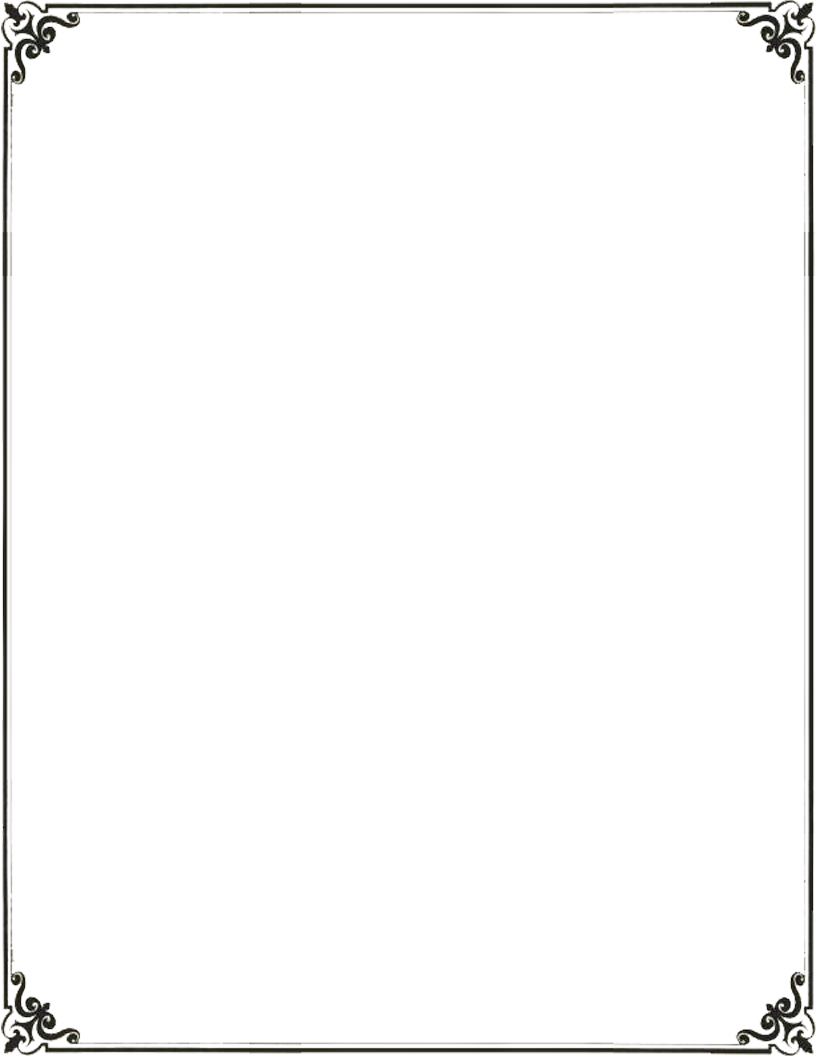 Simple frame vector png. Decorative border transparent free