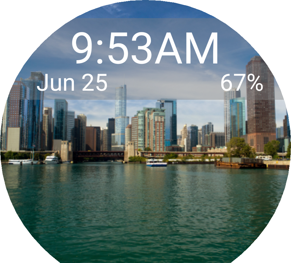 Chicago transparent simple. Skyline for moto facerepo
