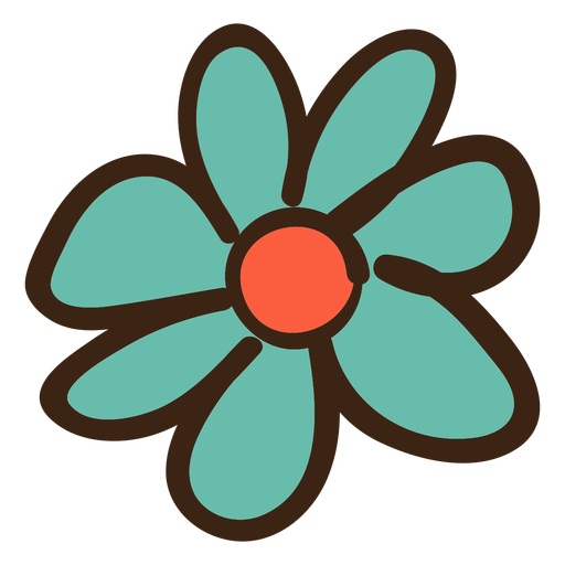Vector pict simple. Flower colored doodle transparent