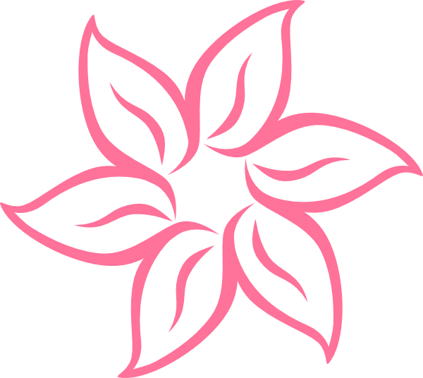 Simple flower png. Pink clip art at