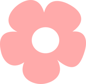 Pink flower clip art. Vector pict simple png royalty free