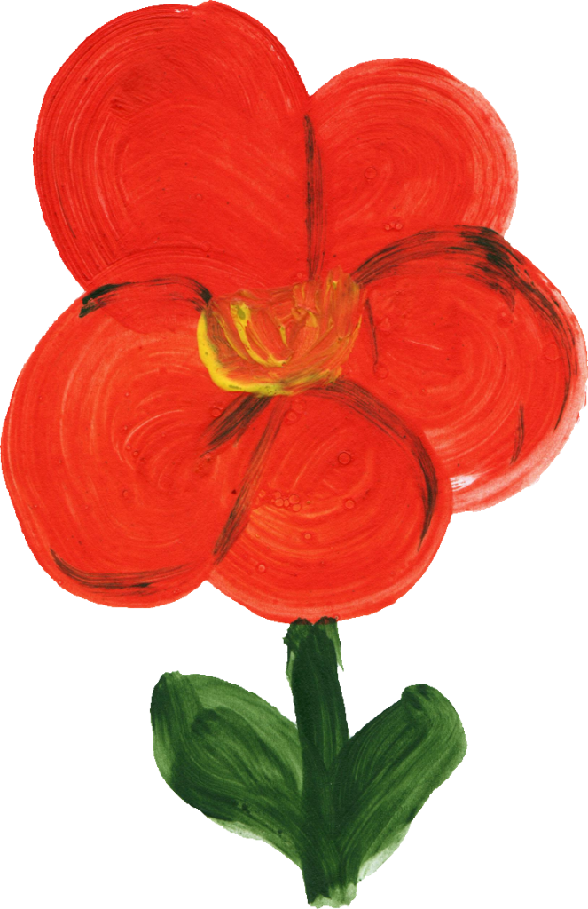Simple flower png. Painted transparent onlygfx