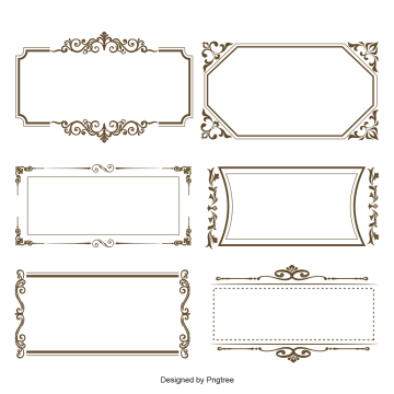 Simple frame vector png. Set images vectors and