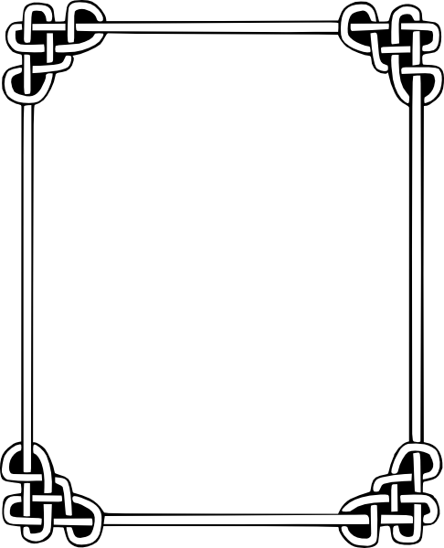 Simple frame vector png. Celtic clip art at