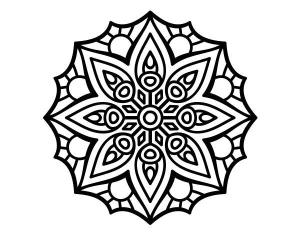 simple mandala black and white png