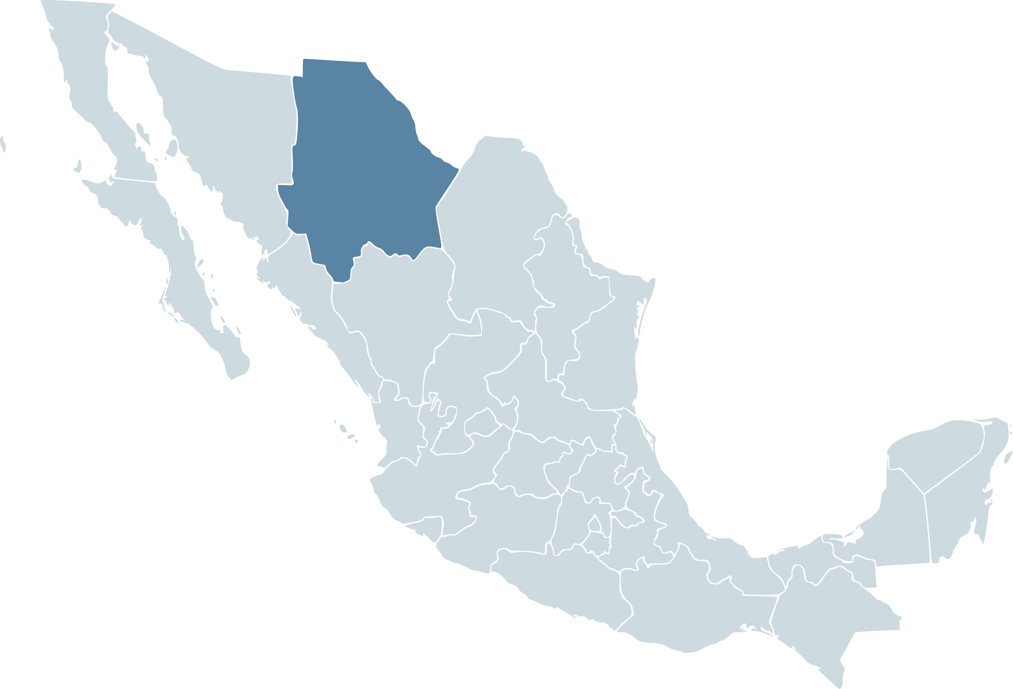 Simple mexico map png. File mx chh svg